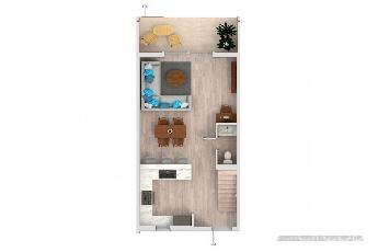 Periwinkle courtyard home – end unit brand new build