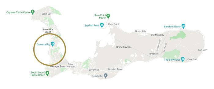 Camana Bay Map