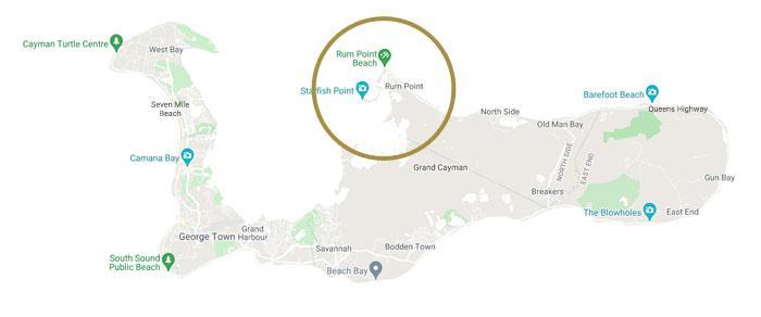 Rum Point Map